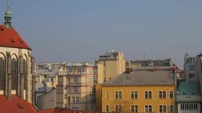 Panorama de la ciudad de Praga metrajes