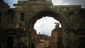 Panorama de la ciudad vieja arruinada de Bosra, Siria fotos de archivo libres de regalías
