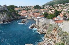 Panorama de la ciudad vieja de Dubrovnik Fotografía de archivo
