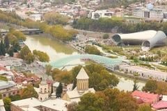 Panorama de la ciudad vieja de Tbilisi Fotos de archivo
