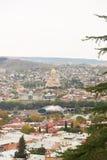 Panorama de la ciudad vieja de Tbilisi Fotos de archivo libres de regalías