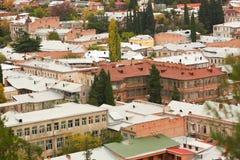 Panorama de la ciudad vieja de Tbilisi Imágenes de archivo libres de regalías