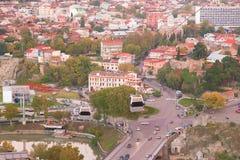 Panorama de la ciudad vieja de Tbilisi Fotografía de archivo libre de regalías