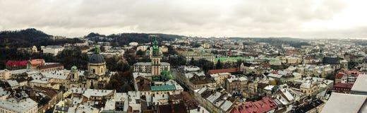 Panorama de la ciudad vieja desde arriba Foto de archivo libre de regalías