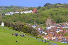 Panorama de la ciudad vieja en Hastings Fotografía de archivo libre de regalías