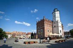Panorama de la ciudad vieja en Sandomierz, Polonia Imagen de archivo
