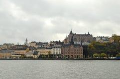 panorama de la ciudad vieja de Estocolmo Imagen de archivo libre de regalías