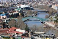 Panorama de la ciudad vieja de Tbilisi Imagenes de archivo