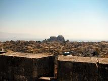 Panorama de la ciudad y de la fortaleza Imagenes de archivo