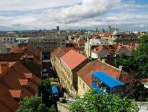 Panorama de la ciudad. Zagreb imagenes de archivo