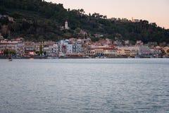 Panorama de la ciudad de Zante del mar Día de verano soleado en la isla de Zakynthos Grecia Imagenes de archivo