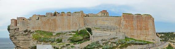 Panorama de la ciudadela antigua en Bonifacio Imagen de archivo