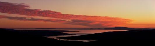 Panorama de la costa croata Fotografía de archivo libre de regalías