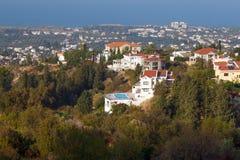 Panorama de la costa de mar de Kyrenia Imagenes de archivo