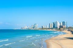 Panorama de la costa de Tel Aviv Fotos de archivo