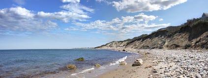 Panorama de la costa del Block Island Fotografía de archivo