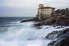 Panorama de la costa italiana Foto de archivo libre de regalías