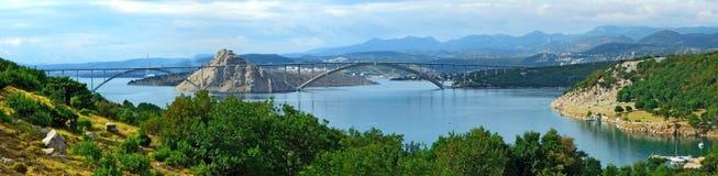 Panorama de la Croatie Image stock