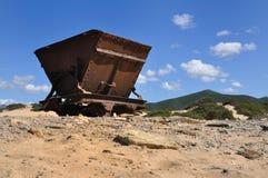 Panorama de la duna de Piscinas en Cerdeña Fotos de archivo libres de regalías