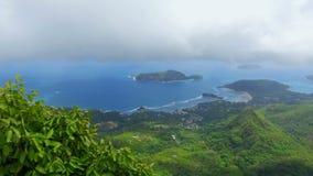 Panorama de la forme Morne Blanc View Point, Seychelles 5 de Mahe Island clips vidéos