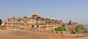 Panorama de la fortaleza de Gwalior fotografía de archivo