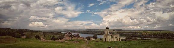 Panorama de la fortaleza de Khotyn fotos de archivo libres de regalías