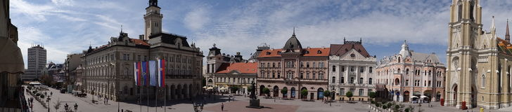 Panorama de la forteresse I de Petrovaradin photographie stock libre de droits