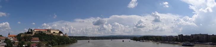 Panorama de la forteresse I de Petrovaradin image libre de droits