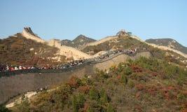 Panorama de la Gran Muralla Foto de archivo libre de regalías