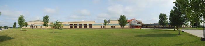 Panorama de la High School secundaria Fotografía de archivo libre de regalías