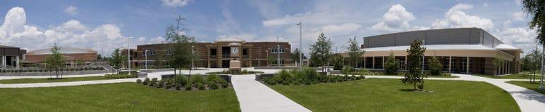 Panorama de la High School secundaria en la Florida Foto de archivo libre de regalías