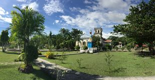 Panorama de la iglesia de Corella Imagen de archivo