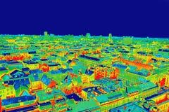 Panorama de la imagen infrarroja de Zagreb fotografía de archivo libre de regalías