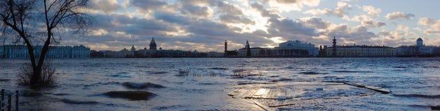Panorama de la inundación Fotografía de archivo