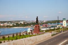 Panorama de la Irkutsk Baje el terraplén fotos de archivo