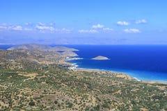 Panorama de la isla de Creta Grecia Imagen de archivo libre de regalías