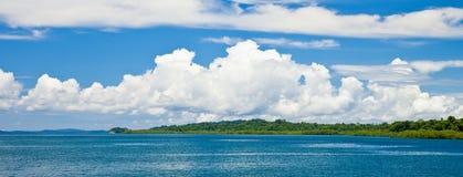 Panorama de la isla de Havelock Imagen de archivo libre de regalías
