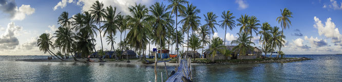 Panorama de la isla de Kuanidup Fotos de archivo