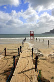 Panorama de la manera al mar Imagen de archivo libre de regalías