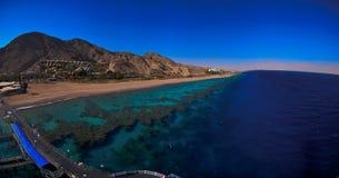 Panorama de la Mer Rouge Images stock