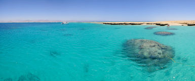 Panorama de la Mer Rouge Photographie stock