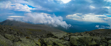 Panorama de la montaña Imagenes de archivo