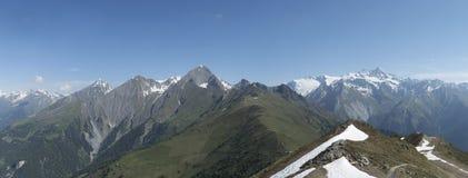 Panorama de la montaña de Glockner Fotografía de archivo