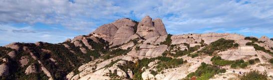 Panorama de la montaña de montserrat Imagenes de archivo