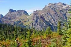 Panorama de la montaña en la caída Imagen de archivo libre de regalías