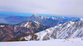 Panorama de la montaña de Feuerkogel, Ebensee, Austria