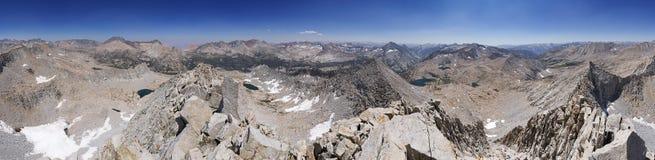 Panorama de la montaña de 360 grados fotografía de archivo