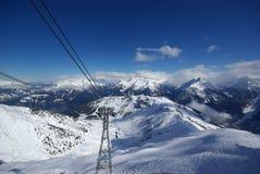 Panorama de la montaña hecho después de día del polvo Fotos de archivo libres de regalías