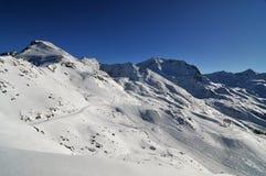 Panorama de la montaña hecho después de día del polvo Imagenes de archivo