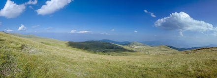 Panorama de la montaña - Voras Kaimaktsalan Ski Center, Edessa Grecia Fotos de archivo libres de regalías